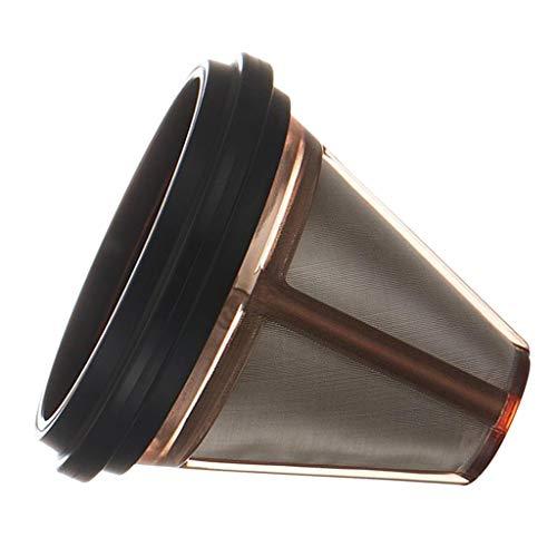 F Fityle Kaffee Filter, Edelstahl Filter, Metall Hand Filter - Schwarz