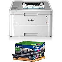 Brother HL-L3210CW - Impresora láser Color (WiFi, USB 2.0, 256 MB, 800 MHz, 18 ppm, 390 W) Blanco
