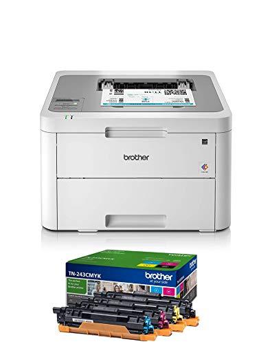 Brother HL-L3210CW Kompakter Farblaserdrucker (18 Seiten/Min.) weiß