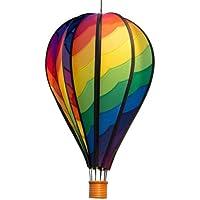 CIM Windspiel - Satorn Balloon Spiral - wetterbeständig - Ballon:Ø28cm x 48cm, Korb: 4.5cm x 4cm - kugelgelagerte Aufhängung (Spiral)