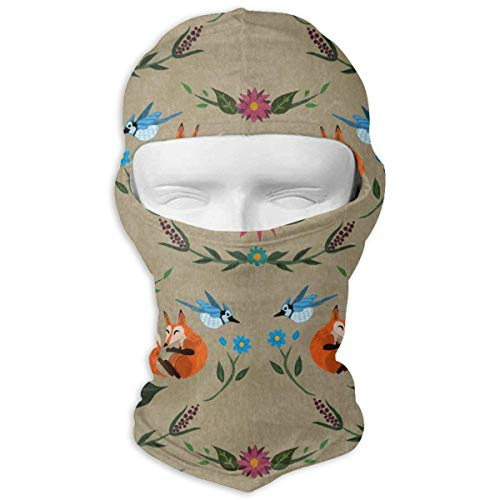 Smile Fox and Birds Windproof Dust Protection Balaclava -