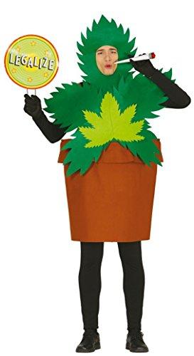 Marihuana Pflanze in Topf als Kostüm für Erwachsene, Größe:L (Kiffer Kostüm)