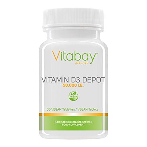 Speicher-einheit-kombination (Vitamin D3 Depot 50.000 I.E. Nur eine Vegan Tablette / 50 Tage - Vegane Tabletten (60 vegane Tabletten))