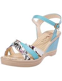 2018 Verano Sandalias y Chanclas, WINWINTOM Nuevo Dama Mujer Porciones Zapatos Verano Sandalias Plataforma Toe Alto Tacón Casual Zapatos