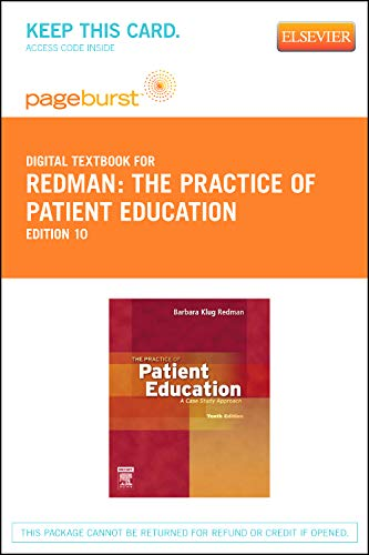 The Practice of Patient Education: A Case Study Approach - Pageburst Retail PDF Books