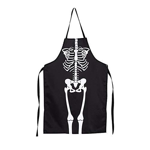 YouN Halloween Horrible Atmosphäre Kleid Party Bar Requisiten Skelett Ghost Schürze