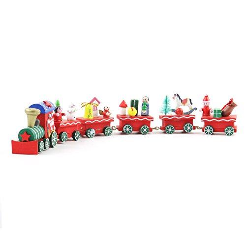 Lanlan giochi bambini,macchina giocattolo,camion bisarca giocattolo,idee regalo ragazza,4 o 6 compartimenti natale in legno cartoon train decorations for home kids cute train xmas gift