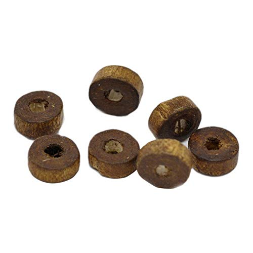 Housweety 1000 Stück Runde Holzperlen Kugel Kugeln Spacer Zwischenperlen Bleifreie für DIY Schmuck 8mm