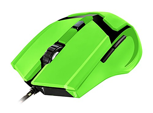 Trust GXT 101-SG Spectra - Ratón gaming iluminado, verde