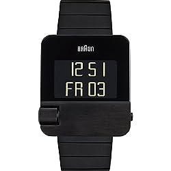 Braun Herren-Armbanduhr Digital Quarz Edelstahl - BN0106BKBKBTG