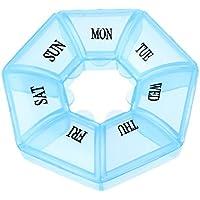 Cuigu 7 Grid Medizin Container Runde Wöchentliche Pill Box Tablet Fall Pille Dispenser Medizin Veranstalter, Blau preisvergleich bei billige-tabletten.eu