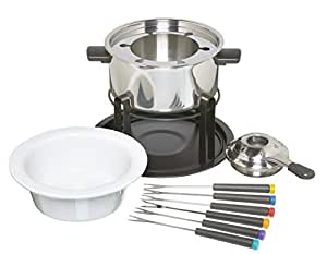 KitchenCraft 3-in-1 Fondue Set (for Chocolate, Meat and Cheese Fondue)