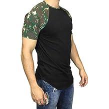 ZODOF Camisetas Hombre Originales Manga Corta Verano Moda Color de Hechizo Bolsillo Polos Personalidad Casual Remera