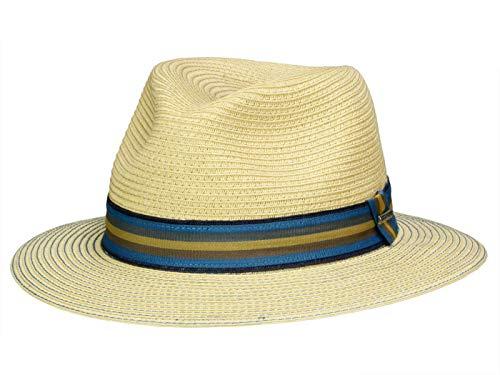Stetson Herren Toyo Stroh Reisenden Fedora Beige 59cm - Toyo Hat