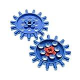 2 x Lego Technic Zahnrad blau Z15 15 Zähne Rad Technik Zahnräder g15