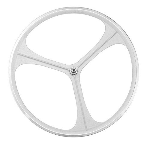 RMS Ruota anteriore 3 razze in lega Aerowheels Trio scatto fisso bianco (Scatto Fisso) / Front wheel alloy 3 spokes Aerowheels Trio fixed bike white (Fixed Wheel)