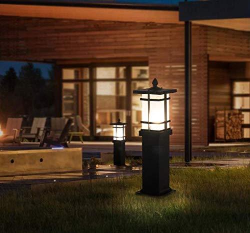 LED Aluminium wasserdichte Rasen Lampe, Outdoor wasserdichte Villa Landschaft Garten Beleuchtung, einfache moderne europäische Garten Rasen Lampe