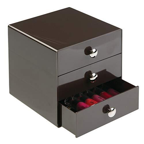 InterDesign 35350EU Organizzatore 3 Cassetti, Plastica, Marrone, 16.512x17.78x16.512 cm