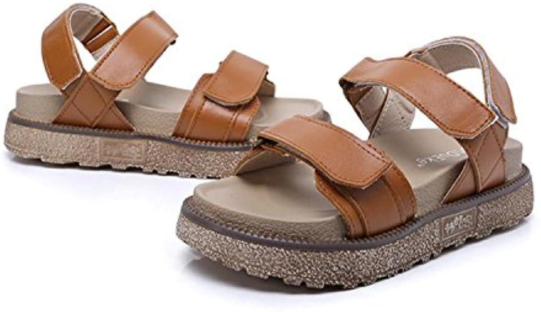 Sandalias Para Mujer Summer Velcro Fashion Shoes Zapatillas de Dedo Abierto de Gran Tamaño Chicas Spring Flat...
