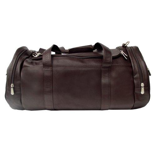Piel Leather Borsa da palestra, Sella, un formato Cioccolato