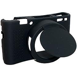 Housse de lentille amovible de silicone protecteur en caoutchouc en caoutchouc souple sac de housse pour Sony Cyber-shot DSC-RX100 III / RX100M3 appareil photo noir