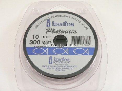 Izorline Platinum Co-Polymer Monofilament Clear Fishing Line - 300Yd Spool - 10 lb. test