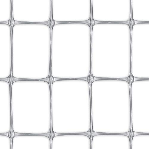 Tenax 1A130307 Millennium Filet pour Clôtures Semblable Métal/Plastique Argenté