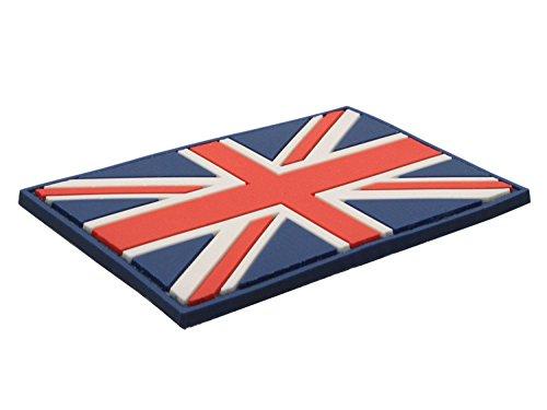 Softair Klett Abzeichen Union Jack Flagge Rot Weiß & Blau PVC Paintball (Abzeichen Union Jack)