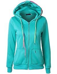 ropa de mujer otoño invierno abrigo chaqueta,RETUROM Más nuevo estilo mujeres con capucha cremallera Sudadera abrigo