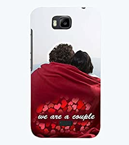 PRINTSWAG LOVE COUPLE Designer Back Cover Case for HUAWEI HONOR BEE