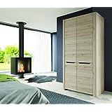 Movian Mira 2-Door Wardrobe, 98 x 58 x 193cm, Sanremo Oak Effect