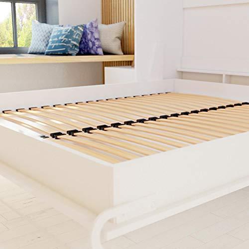 Schrankbett 160×200 weiss mit Gasdruckfedern, ideal als Gästebett – Wandbett, Schrank mit integriertem Klappbett, SMARTBett - 9