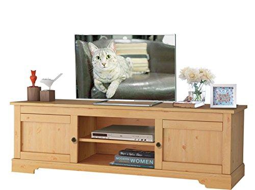 Massive Kiefer Holz Tv-schrank (MARTA TV-Tisch TV-Board Lowboard Fernsehtisch Fernsehschrank Kiefer massiv gebeizt geölt 160x45x45 cm)