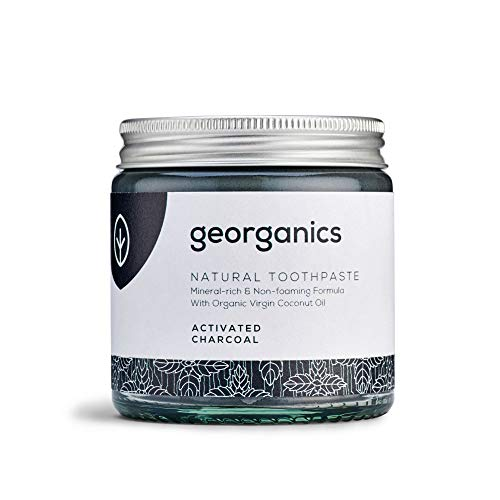 Georganics natürlich biologische Kokosölzahnpasta- Aktivkohle 120 ml Remineralizing Natural Organic Coconut Oil Whitening Toothpaste - Activated Charcoal 120ml