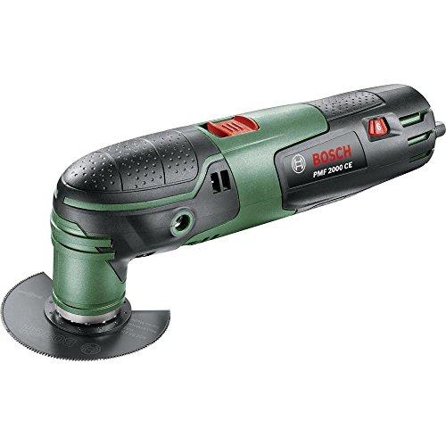 Bosch PMF 2000 CE Outil Multifonction 20000 Tours/Min 220 W - 1,1 kg, 10 Accessoires, 230 V - Noir/Vert