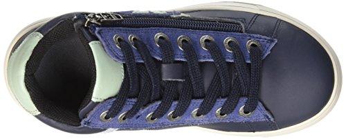 Kickers - Poolover, Scarpe da ginnastica Bambino Bleu (Marine/Vert)