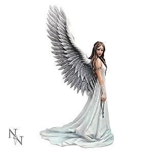 41lGpjxH%2BZL. SS300  - Nemesis Now Spirit Guide Anne Stokes Figurine 18cm White, Resin, One Size