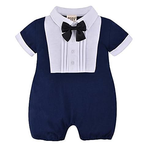 ZOEREA Newborn Baby Boys Romper Summer Short Sleeve Onesie Suits