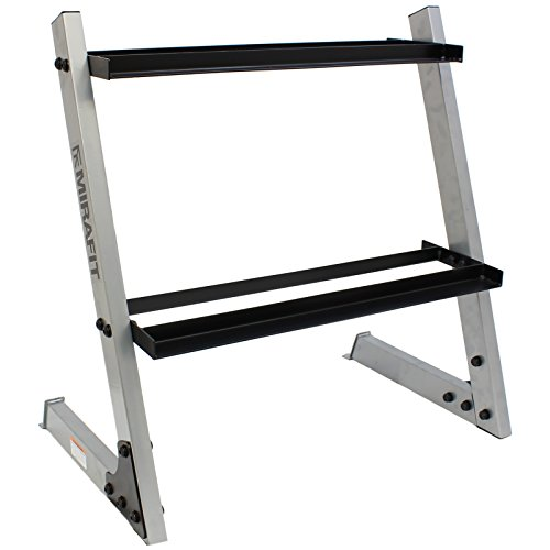 Mirafit 150kg 2 Tier Dumbbell Weight Rack