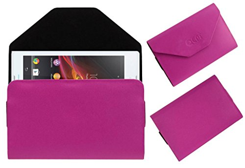 Acm Premium Pouch Case For Sony Xperia C C2305 Flip Flap Cover Holder Pink