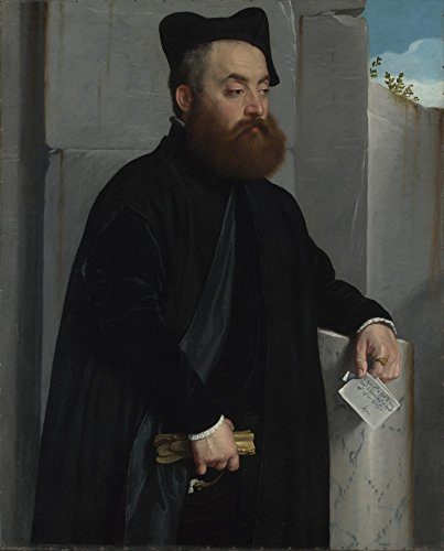 The Museum Outlet–Giovanni battista Moroni–Canon Ludovico di terzi, Stretched canvas Gallery Wrapped. 29,7x 41,9cm
