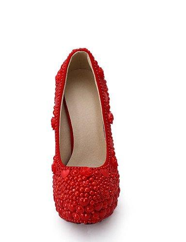 WSS 2016 Chaussures de mariage-Rouge-Mariage / Habillé / Soirée & Evénement-Talons-Talons-Homme 5in & over-us8 / eu39 / uk6 / cn39