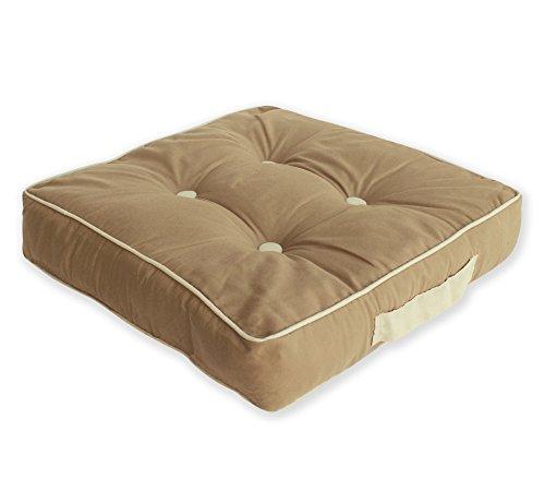 Matratzenkissen moderne Bi Color Sitzkissen Stuhlkissen Kissen Auflage ca. 40x40x8 cm #1416 (sand)