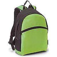 Mochila Escolar Tipo Casual en Color Verde. Versátil y Práctica. Cómodas Asas Acolchadas y