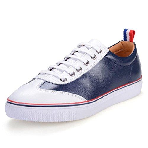 Uomo Moda Scarpe sportive formatori Scarpe di pelle Scarpe da corsa traspirante Antiscivolo impermeabile All'aperto Scarpe da ginnastica euro DIMENSIONE 38-45 Blue