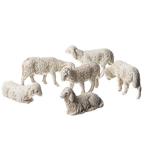 Moranduzzo 6 pecore assortite in busta, multicolore, 3.5 cm