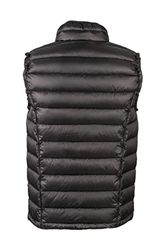 James & Nicholson Herren Jacke Daunenweste Men's Quilted Down Vest Black