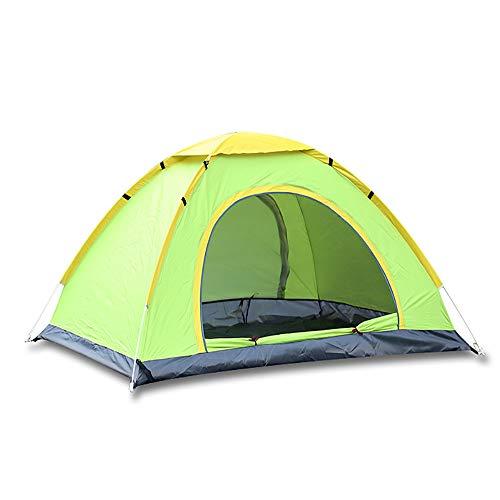 SMILINGGIRL Outdoor Camping Zelte,Tragbare Camping Zelte,Hand Werfen Speed Open Zelt Für 2 Personen- Regenfest, Winddicht Und UV-Beständig,Green,M