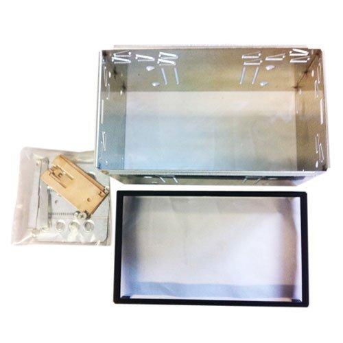 Metall - Installations Kit für Doppel 2 DIN Blenden Einbauschacht 2 Din Kit