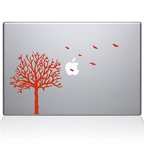 The Decal Guru 2094-MAC-13A-BLA Baum mit Vögeln Aufkleber Vinyl Orange Orange 13